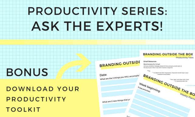 Productivity Series: Ask the Experts